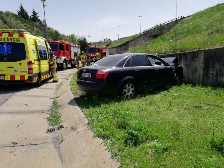 Imatge de l'accident d'aquest migdia a Lleida