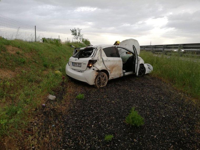 Imatge d'un dels vehicles implicats en l'accident