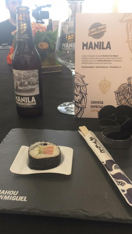 Manila marida especialment amb plats picants com el sushi