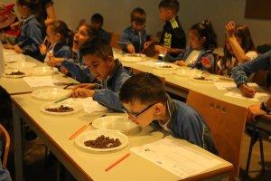 Els escolars en un dels tallers
