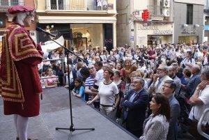 Imatge de l'inici de la Festa Major de Lleida