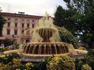 Imatge general de la font de la plaça de la Pau de Lleida
