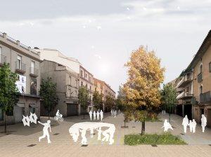Imatge virtual de com serà la plaça Manuel Bertrand de Mollerussa