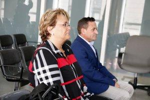 La cap d'Organització i Gestió de la Diputació de Lleida, Marlen Minguell, i el coordinador de Noves Tecnologies, Gerard Serra