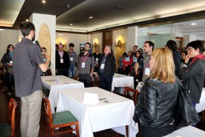 Pla general dels participants a la jornada Networking d'ocupació jove que s'ha celebrat a Sort