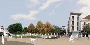 Recreació virtual de com serà la plaça de l'Ajuntament de Mollerussa