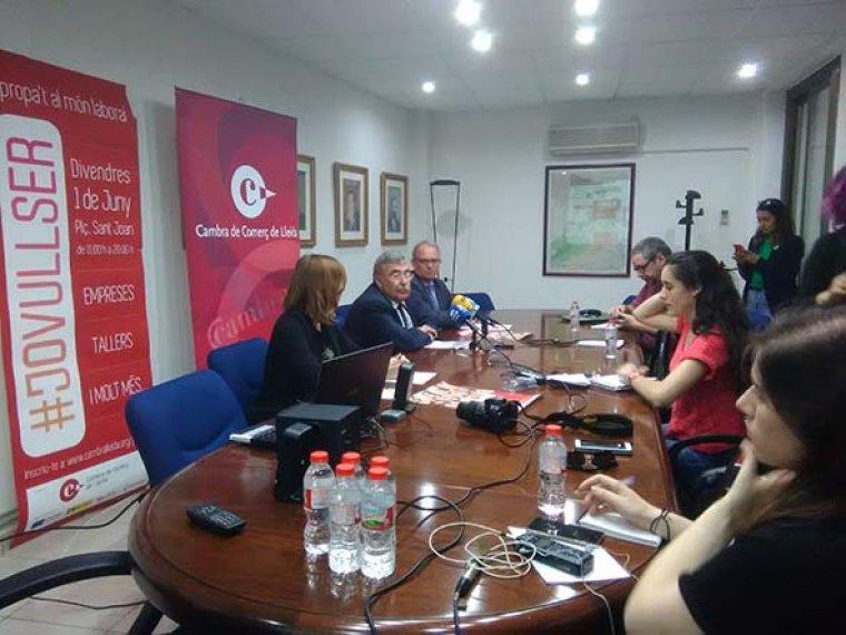 Imatge de la presentació a la Cambra de Comerç de Lleida