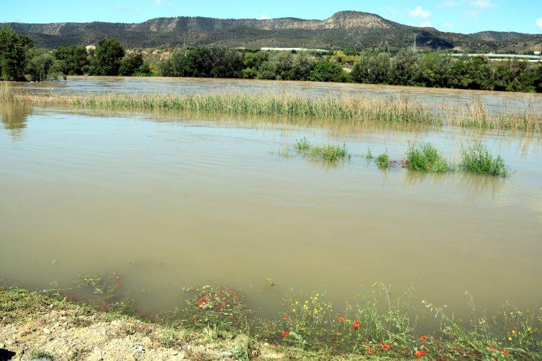 Imatge de l'aiguabarreig dels rius Segre i Cinca, a la Granja d'Escarp