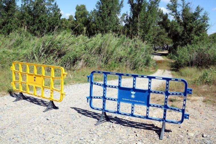L'Ajuntament de la Granja d'Escarp ha tancat l'accés a alguns camins