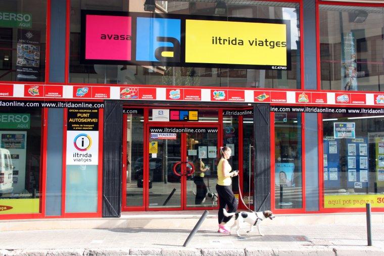 Una oficina de l'agència Iltrida Viatges al centre de Lleida
