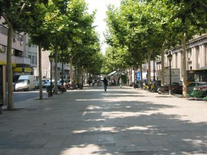 Imatge d'arxiu de la rambla Ferran de Lleida