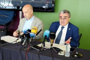 L'alcalde de Lleida, Àngel Ros, amb el tinent d'alcalde Rafael Peris, fent balanç del maig festiu a la ciutat