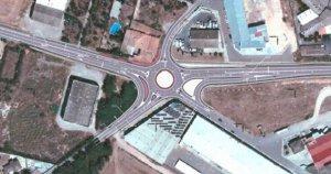 Plànol de la futura nova rotonda a l'N-II a Bellpuig