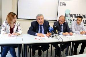 Un instant de la presentació a ,a Cambra de Comerç de Lleida