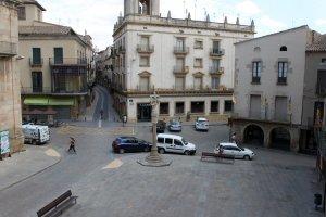 Vista general de la plaça Major de Tàrrega en una imatge d'arxiu