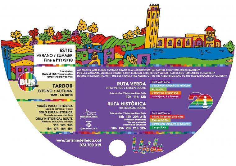 Cartell del bus turístic