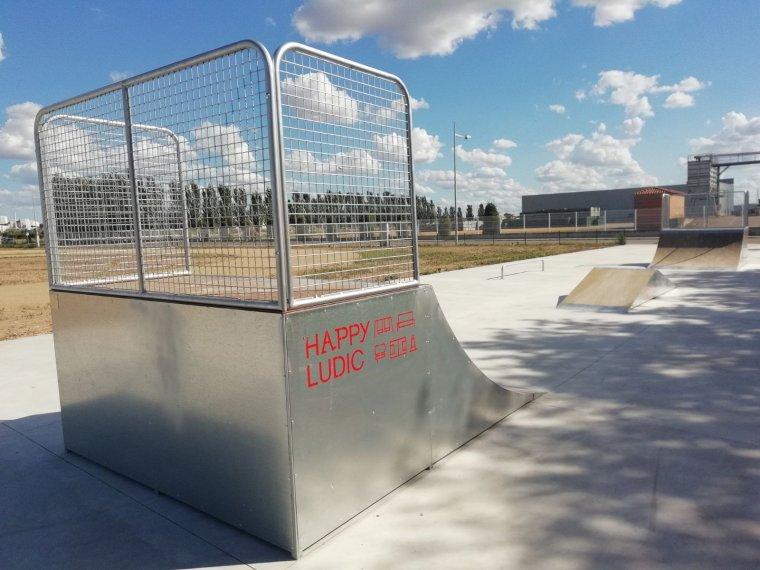 Imatge de la zona de skate del Palau