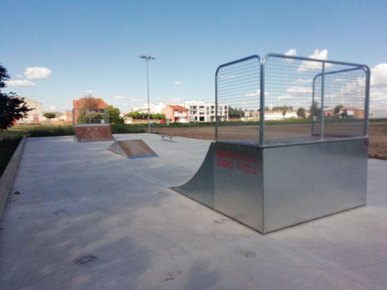 La zona de skate del Palau