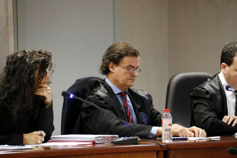 L'advocat acusat d'apropiació indeguda, durant el judici celebrat a l'Audiència de Lleida.