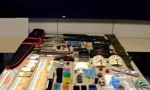 Articles enxampats durant l'escorcoll del pis del detingut.