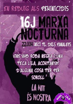 Cartell de la marxa nocturna del proper 16 de juliol a Lleida.