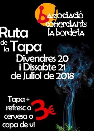 Cartell de la Ruta de la Tapa del barri de la Bordeta de Lleida.