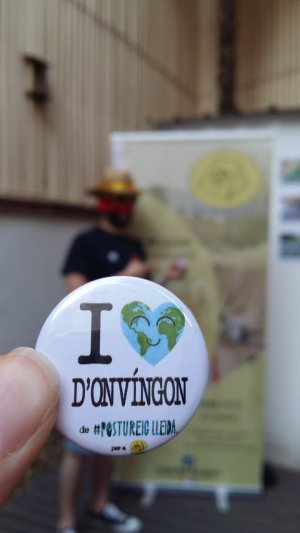 «I love d'Onvíngon», nova xapa de Postureig de Lleida.