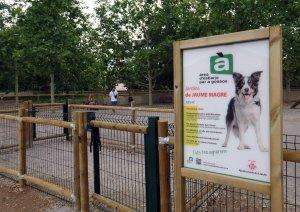 Imatge de la nova àrea per a gossos