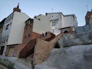 Les escales habilitades per pujar al nou mirador d'Almenar.