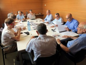Reunió del consell d'administració del Parc Científic i Tecnològic Agroalimentari de Lleida.