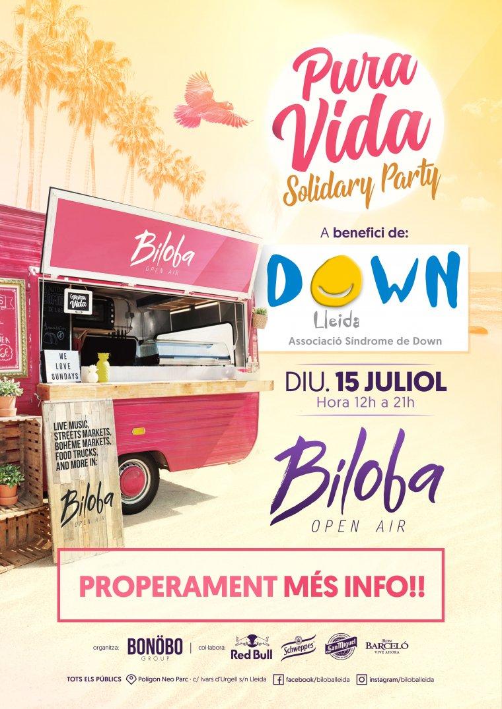 Cartell de la festa a la discoteca Biloba
