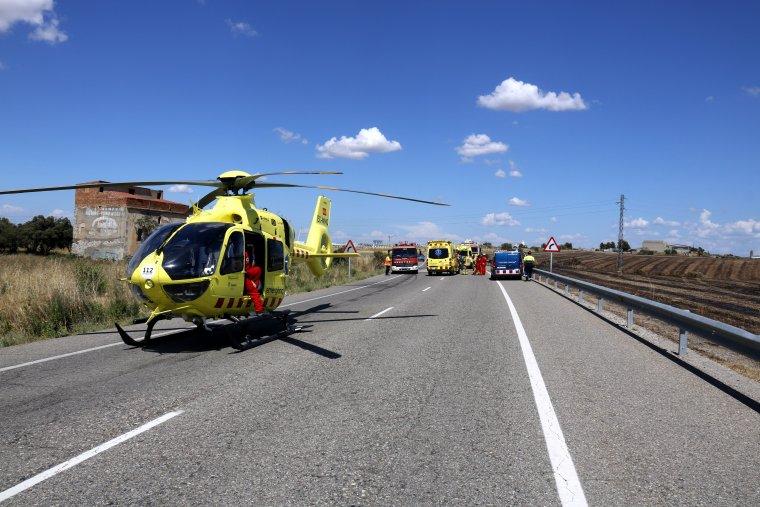 Fins al lloc de l'accident s'hi ha desplaçat l'helicòpter medicalitzat del SEM.