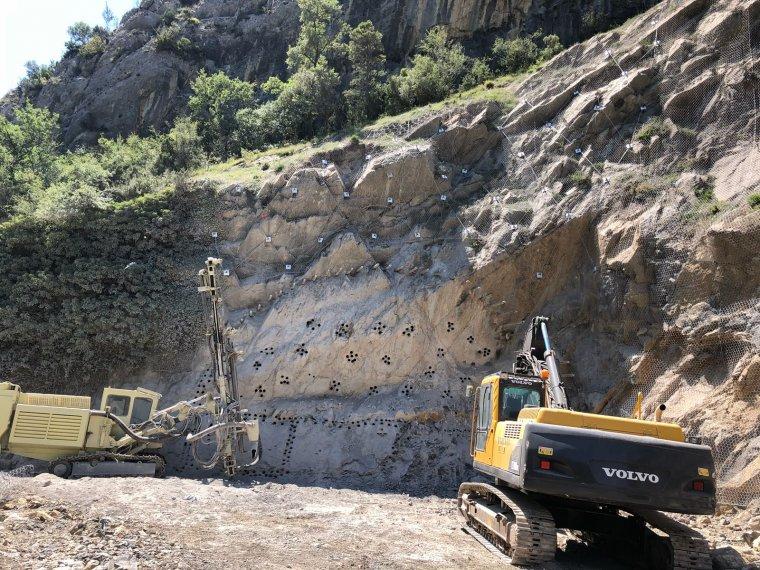 Imatge dels treballs al túnel de Tresponts, a l'Alt Urgell