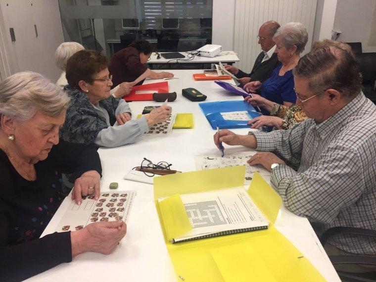 Imatge d'un taller de memòria a Aspid