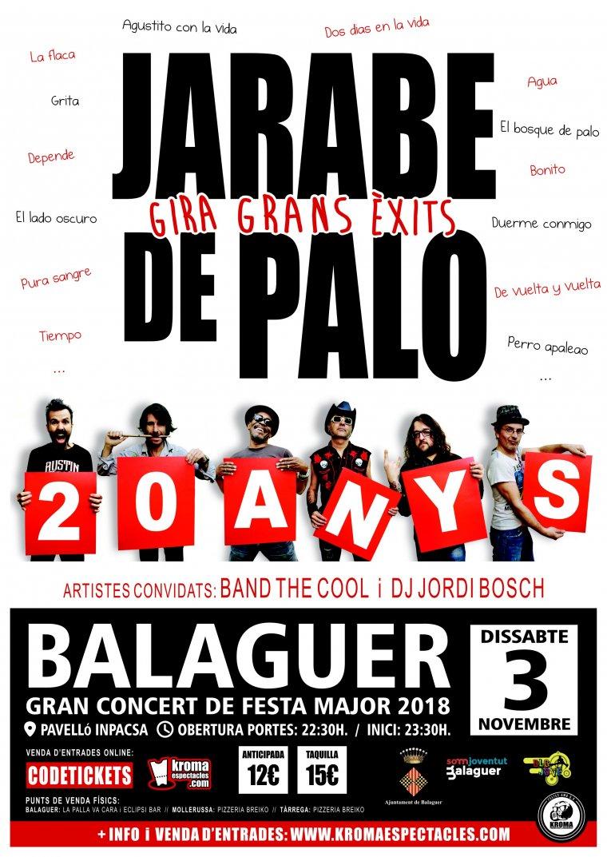 Imatge promocional dels 20 anys de Jarabe de Palo