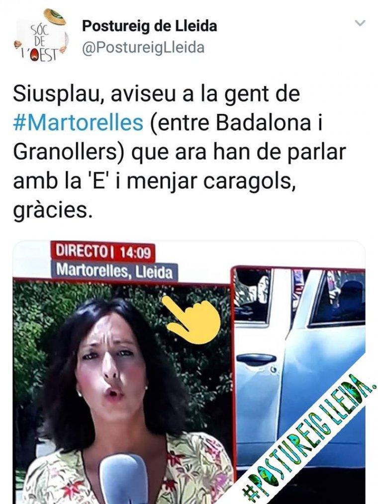 Imatge publicada pel Postureig de Lleida