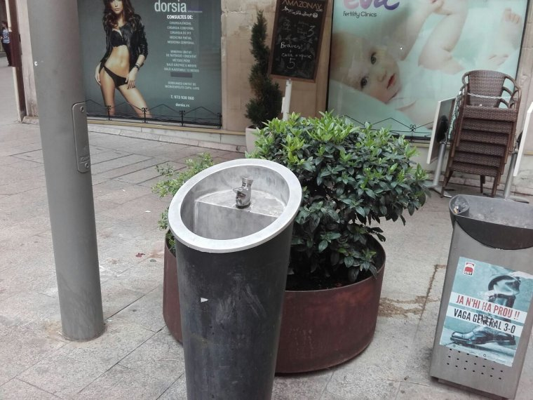 Una font tancada a Lleida