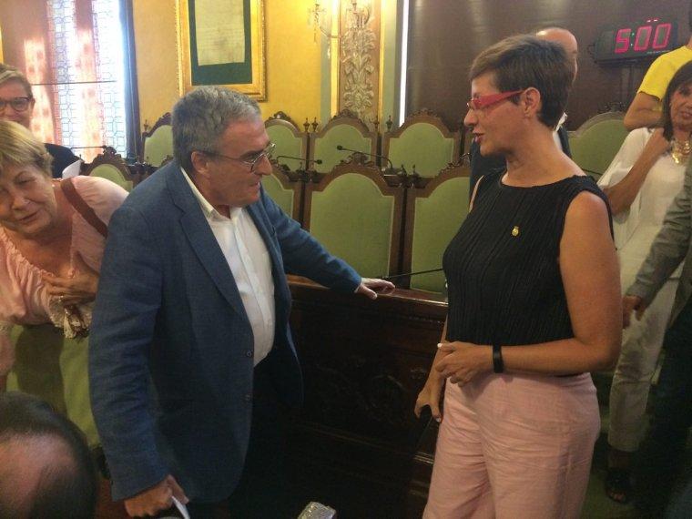 Àngel Ros amb Ángeles Ribes