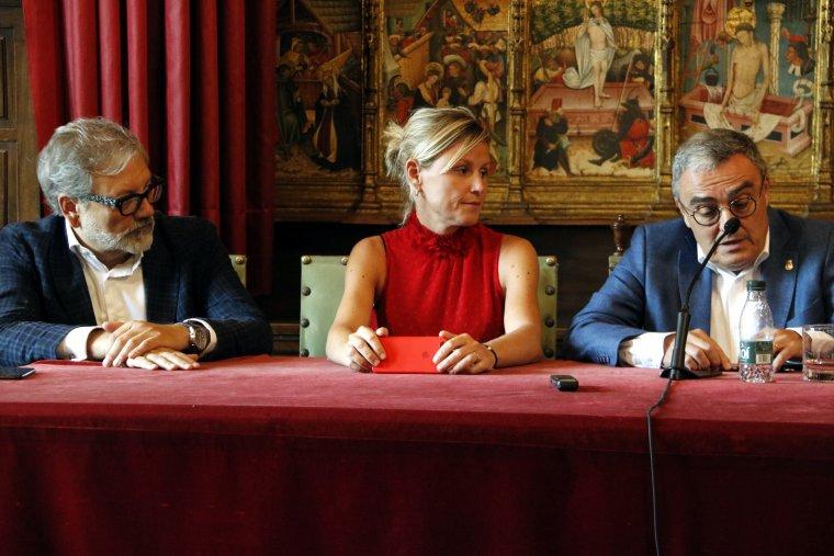 Àngel Ros, Montse Mínguez i Fèlix Larrosa.