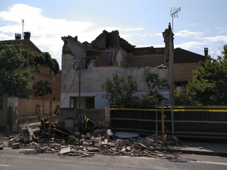 Imatge de la casa afectada
