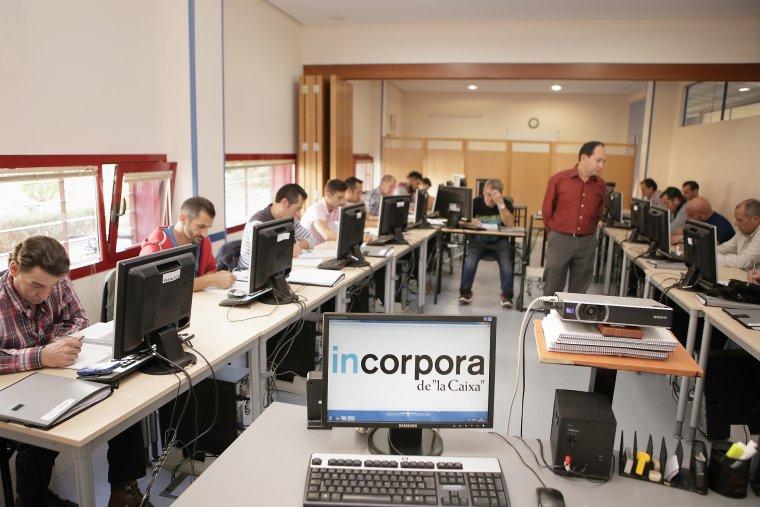 Imatge d'una aula de les formacions