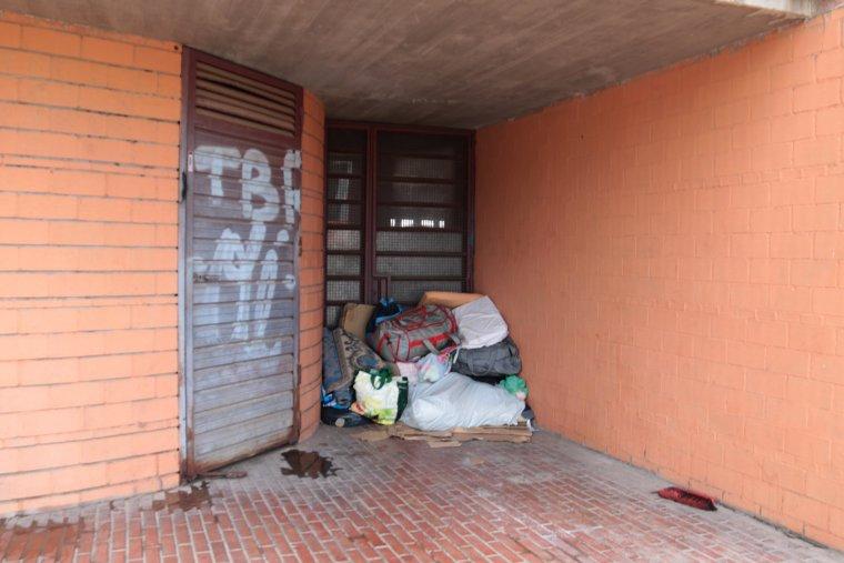 Pertinences de persones que dormen al carrer