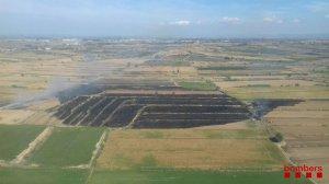 Imatge aèria de l'incendi de Torregrossa