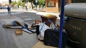 Imatge de contenidros a Lleida