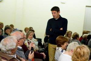 Imatge de la xerrada del periodista esportiu Artur Peguera, que va tenir lloc en la edició de l'any passat