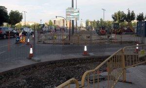 La plaça Espanya també es veu afectada per les obres de connexió amb Cappont.