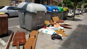 Més imatges de contenidors a Lleida