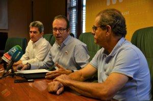 Pla general amb l'alcalde de Mollerussa, Marc Solsona