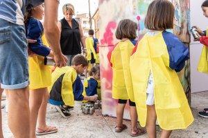Taller de graffitis a Torrefarrera