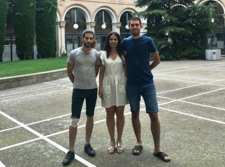 El Pau, la Josephine i l'Àlex són professors a la Binhai School of Foreing Affairs